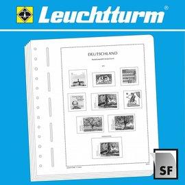 Leuchtturm album pages SF France Postal Museum Paris 1966