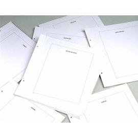 Davo LX blanco bladen kader Frankrijk - 20 stuks