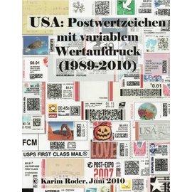 Roder USA: Postwertzeichen mit variablem Wertaufdruck (1989-2010)
