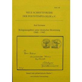 Poststempelgilde Kriegsausgaben unter deutscher Besatzung 1940-1945