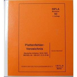 Infla Plattenfehler-Verzeichnis Deutsche Inflation 1916-1923