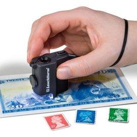 Leuchtturm Pocket microscope LED 15x magnifying