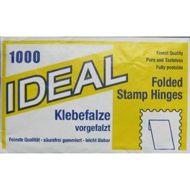 Ideal Stamp hinges - 10 packages with 1000 hinges each