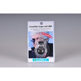 Leuchtturm Juwelier-Lupe mit LED 10x Vergrosserung