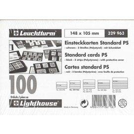 Leuchtturm Einsteckkarten Standard PS - 100 Stück