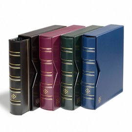 Leuchtturm Album mit Schutzkassette Optima Classic Münzen blau