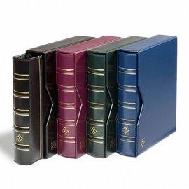 Leuchtturm Album mit Schutzkassette Optima Classic Münzen rot