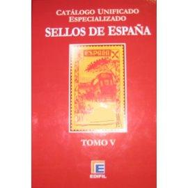 Edifil Spanje Band 5 Barcelona en postwaardestukken