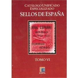 Edifil Spanje Band 6 Lokale zegels & Burgeroorlog