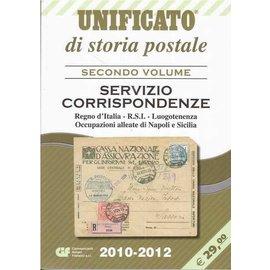 CIF Unificato di storia postale Secondo Volume Servizio Corrispondenze Regno d'Italia · R.S.I. · Luogotenenza · Occupazioni alleate die Napoli e Sicilia