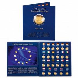 Leuchtturm album Presso Euro-Collection 2€-munten 30 jaar Europese Vlag