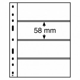 Leuchtturm Kunststoffhüllen Optima 4 C - 10 Stück