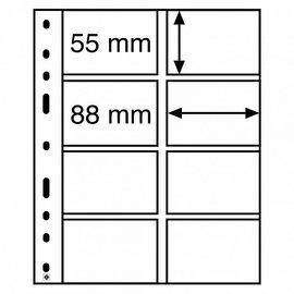 Leuchtturm plastic pockets Optima 4 VC - set of 10