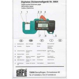 Safe Digitaler Papierdickenmesser