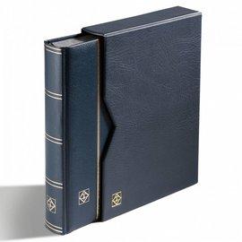 Leuchtturm Einsteckbuch in Kassette Premium S 64 SET blau