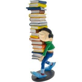 Plastoy Gaston mit Stapel Büchern