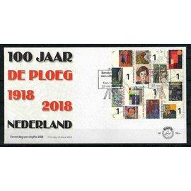 NVPH Netherlands FDC 768 a & b 100 years De Ploeg