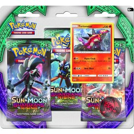 The Pokemon Company Pokemon blister 3 pakjes sun&moon guardians rising met munt en Turtonator