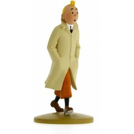 moulinsart Tintin figurine in raincoat