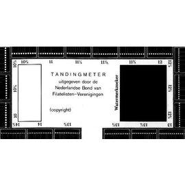 NBFV perforation gauge black cardboard
