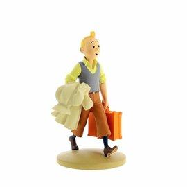 moulinsart Tintin statue - Tintin en route