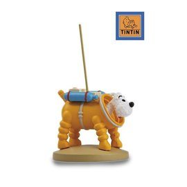 moulinsart Tintin on the moon statue - Snowy