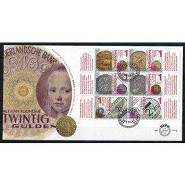 NVPH Nederland FDC 771 a & b Spraakmakend geld
