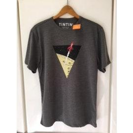 moulinsart Tintin T-Shirt Reiseziel Mond - L