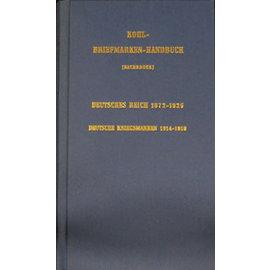 Neues Handbuch Kohl-Briefmarken-Handbuch Deutsches Reich 1872-1925