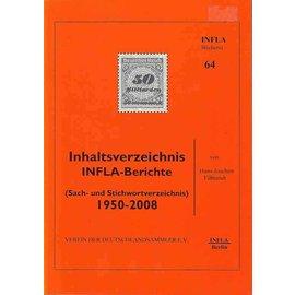 Infla Inhaltsverzeichnis INFLA-Berichte
