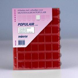 Importa muntenbladen Populair 42-vaks rode schutbladen - 4 stuks