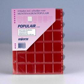 Importa muntenbladen Populair 30-vaks rode schutbladen - 4 stuks