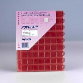 Importa muntenbladen Populair 63-vaks rode schutbladen - 4 stuks