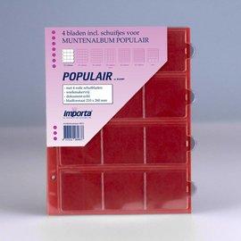 Importa muntenbladen Populair 12-vaks rode schutbladen - 4 stuks