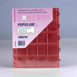 Importa muntenbladen Populair 20-vaks rode schutbladen - 4 stuks