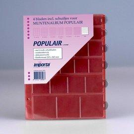 Importa muntenbladen Populair Mix rode schutbladen - 4 stuks