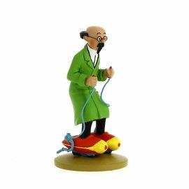 moulinsart Kuifje beeldje - Professor Zonnebloem op rolschaatsen