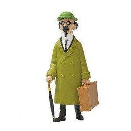 moulinsart Kuifje figuurtje Professor Zonnebloem met koffer 9 cm hoog