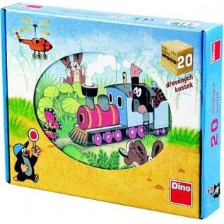 Dino Molletje houten puzzel Dino 20
