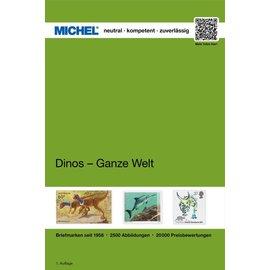 Michel Dinosaurier - Ganze Welt - Dinosaurussen op postzegels