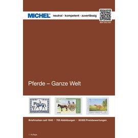 Michel Pferde - Ganze Welt - Horses on Stamps