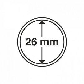 Leuchtturm Münzkapsel 26 mm - 10 Stück