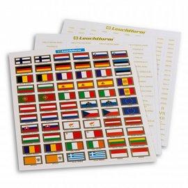 Leuchtturm etiketten Euro-landen