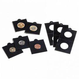 Leuchtturm Matrix munthouders zwart 30 mm - 25 stuks