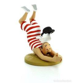 moulinsart Tintin Statue - Schultze im Badeanzug