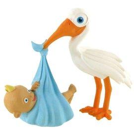 Comansi Figuurtje Ooievaar brengt baby boy