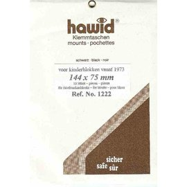 Hawid 144 x 75 mm zwart