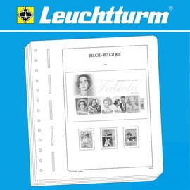 Leuchtturm album pages SF Belgium 2015-2017