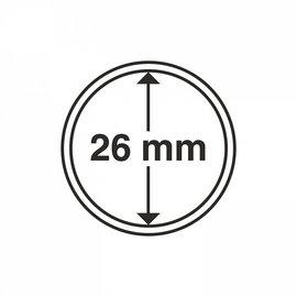 Leuchtturm Münzkapseln 26 mm - 100 Stück