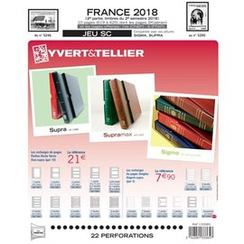 Yvert & Tellier Jeu SC France 2018 2eme semestre